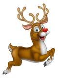 Cartoon Santas Christmas Reindeer Royalty Free Stock Photos