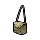 Cartoon satchel. Retro cartoon with texture. Isolated on White Royalty Free Stock Photography