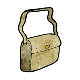 Cartoon satchel. Retro cartoon with texture. Isolated on White Stock Image