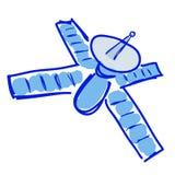 Cartoon Satelite Hand Draw Stock Images