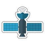 Cartoon satellite antenna communication wireless. Illustration eps 10 Stock Images