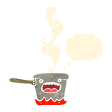 Cartoon saucepan Stock Images