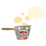Cartoon saucepan Royalty Free Stock Image