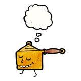 Cartoon saucepan Stock Images