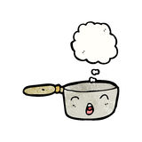 Cartoon saucepan Royalty Free Stock Photo