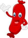 Cartoon the sausage waving Royalty Free Stock Photo