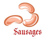 Cartoon sausages Stock Photo