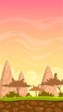 Cartoon savanna landscape illustration Royalty Free Stock Images