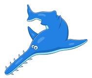 Cartoon sawfish Royalty Free Stock Photo