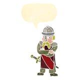Cartoon saxon warrior Stock Images