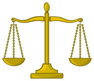Cartoon Scales of Justice Royalty Free Stock Photos