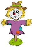 Cartoon scarecrow Stock Photography