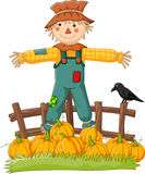 Cartoon scarecrow character Royalty Free Stock Images