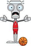 Cartoon Scared Basketball Player Robot Royalty Free Stock Photography