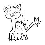cartoon scared cat Royalty Free Stock Images
