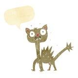cartoon scared cat with speech bubble Royalty Free Stock Photos