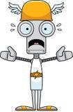 Cartoon Scared Hermes Robot Stock Photos