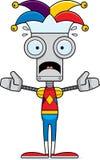 Cartoon Scared Jester Robot Stock Photos