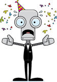 Cartoon Scared Party Robot Royalty Free Stock Image
