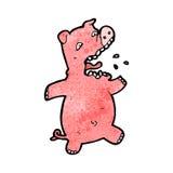cartoon scared pig Stock Photos