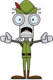 Cartoon Scared Robin Hood Robot Royalty Free Stock Photos