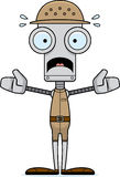 Cartoon Scared Zookeeper Robot Stock Photo