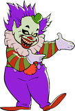 Cartoon scary evil clown royalty free illustration