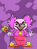 Cartoon scary evil clown Royalty Free Stock Photography