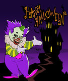 Cartoon scary evil clown Royalty Free Stock Image