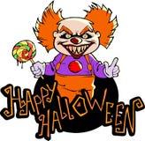 Cartoon scary evil clown Royalty Free Stock Image