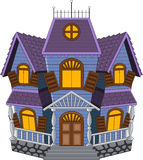 Cartoon scary house  on white background Stock Photo