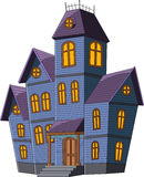 Cartoon scary house  on white background Royalty Free Stock Image