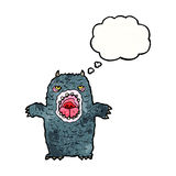 Cartoon scary monster Stock Images