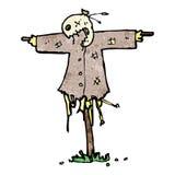 Cartoon scary scarecrow Royalty Free Stock Photos