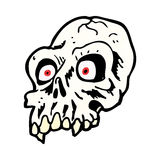 Cartoon scary skull Stock Photography