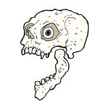 Cartoon scary skull Royalty Free Stock Photos
