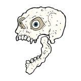 Cartoon scary skull Royalty Free Stock Photos