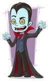 Cartoon scary vampire with canines royalty free illustration