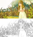 Cartoon scene - background Stock Images