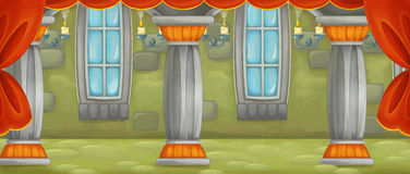 Cartoon scene of castle room for different usage Stock Images