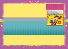 Cartoon scene of empty room - playground in the window Royalty Free Stock Image
