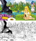 Cartoon scene for fairytale Royalty Free Stock Photo