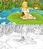 Cartoon scene for fairytale Royalty Free Stock Photography