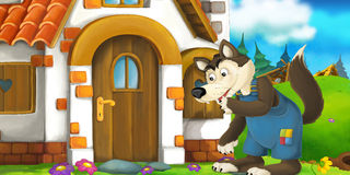 Cartoon scene Royalty Free Stock Images
