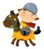 Cartoon scene on a horseman -  Royalty Free Stock Image