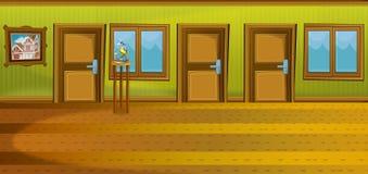 Cartoon scene of house interior - hall Stock Photo