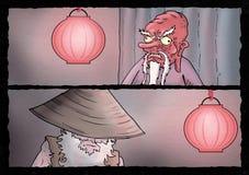 Cartoon scene illustration Stock Photos