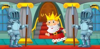 Cartoon scene with knights Royalty Free Stock Photo