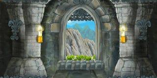 Free Cartoon Scene Of Medieval Interior Royalty Free Stock Photography - 72096197