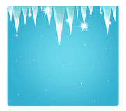 Cartoon scene with weather - winter - ice Stock Images